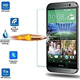 HTC One M9 Screen Protector - [ Precisely Cut ] [ 99.99% Clarity and Touchscreen Accuracy ] Tempered Glass LCD HD Premium Screen Protector Guard Film For HTC One M9 - Anti-Scratch / Shatterproof / Anti-Fingerprint / Water & Oil Resistant For HTC One M9 Phone - Retail Packaging