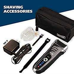 Wahl Smart Shave Rechargeable lithium ion wet / dry water proof foil shaver for men. Smartshave technology for shaving, trimming, and wet or dry shave with precision ground trimmer blade #7061-900  Image 2