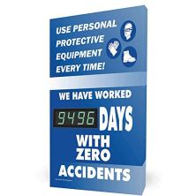 Use-Personal-Protective-Equipment-Every-Time-Digital-Safety-Scoreboard-28x20-inch-Aluminum-by-ComplianceSigns
