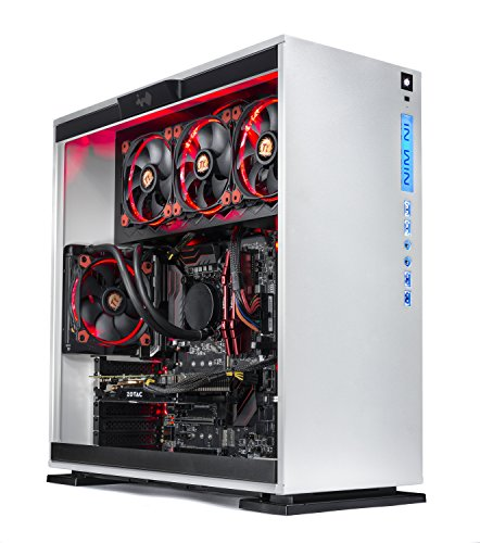 SkyTech Omega Gaming Computer Desktop PC Intel i7-8700K 3.7Ghz, Liquid Cooled, GTX 1070 Ti 8GB, 250G SSD with 3D NAND, 2TB HDD, 16GB DDR4, Z370 Motherboard, Win 10 Home