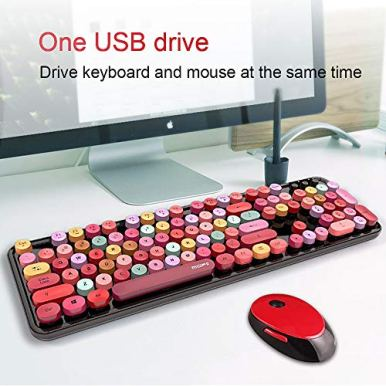 Wireless-Keyboard-and-Mouse-Combo-High-Key-Keyboard-for-PCLaptopComputer-Black