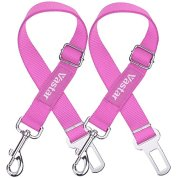 Vastar-2-Packs-Adjustable-Pet-Dog-Cat-Car-Seat-Belt-Safety-Leads-Vehicle-Seatbelt-Harness-Pink