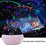 TekHome 2019 New Star Ocean Projector Night Light for Kids Bedroom, Baby Light Projector on Ceiling, Kid Toys for 3-12 Year Old Girls, New Mom Gifts, Rotating Night Light, 2 Films, 8 Colors, Pink.