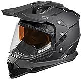 Castle X Mode Dual-Sport SV Snowmobile Helmet (XLG, Matte Black)