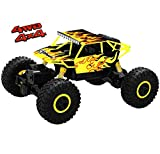Top Race Remote Control Monster Truck RC Rock Crawler, 2.4Ghz Transmitter, 4WD Off Road RC Car - TR-130Y