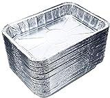 DOBI (30-Pack) Weber Grills Compatible Drip Pans, Bulk Package, Aluminum Foil BBQ Grease Pans, 7.5' x 5'