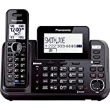 PANASONIC Link2Cell Cordless Phone Bluetooth Enabled with Answering Machine and 2 Phone lines - 1 Cordless Handset - KX-TG9541B (Black)