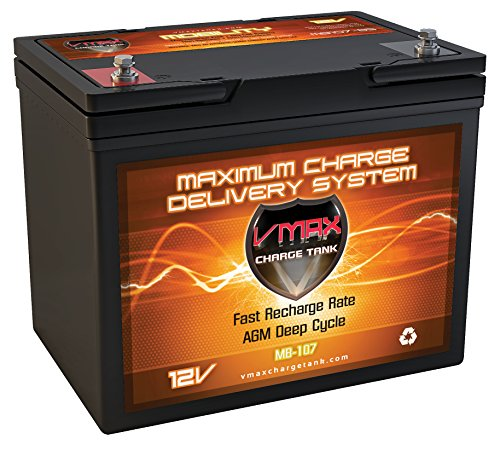 VMAXMB107 AGM Group 24 Deep Cycle Battery Replacement for IMC Hartway Royale 4X 12V 100Ah Wheelchair Battery