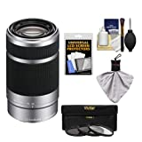 Sony Alpha NEX E-Mount 55-210mm f/4.5-6.3 OSS Zoom Lens with 3 Filters + Kit for A5100, A6000, A6300, A6500 Cameras