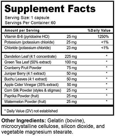 Water Away Diuretic Supplement with Dandelion Leaf – Bloat Relief Pills Weight Loss Relieve Swelling Water Retention – Natural Green Tea Extract Potassium Vitamin B6 for Men & Women 11