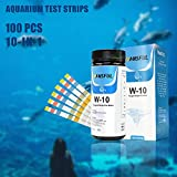 Yueeng 10-in-1 Aquarium Test Strips, 100 Count for Fresh/Salt Water Quality Testing, Water Chemistry PH Tester