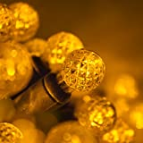 70 G12 Gold Globe Christmas Lights Gold 24 ft. LED Globe String Lights Ball Lights Dorm Room Lights Party String Lights for Bedroom Indoor-Outdoor Christmas String Lights