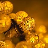 70 G12 Gold Globe Christmas Lights Gold 24 ft. LED Globe String Lights Ball Lights Dorm Room Lights Party String Lights for Bedroom Indoor-Outdoor Christmas String Lights
