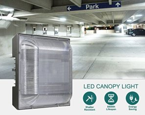 LED-Canopy-Light-100W-250-400W-HPSMH-Replacement-124-x-124-Square-Ceiling-Lights-5000K-11000lm-100-277Vac-IP65-Waterproof-for-Warehouse-Gas-Station-Car-Wash-10-Year-Warranty-by-Kadision