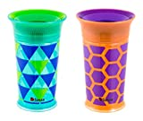 Sassy Deco Cup 9oz, 2 Count (Colors and Style may Vary)