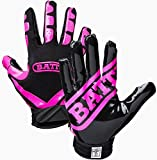 Battle Football Glove, Pink/Black, Adult Large