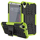 HTC Desire 530 Case,HTC Desire 630 Case, LEECOCO Heavy Duty Tough Armor Box Dual Layer Hybrid Hard PC and Soft TPU Shockproof Protective Defender Case for HTC Desire 530 / 630 Heavy Green