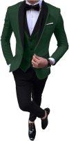 Men S Formal 3 Piece Business Suit Shawl Lapel Wedding Tux Blazer Vest Pants At Amazon Men S Clothing Store - Wedding Tuxedo, Men S 2 Button Royal Blue Wedding Tuxedo Suit