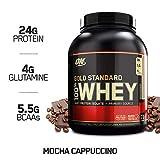 OPTIMUM NUTRITION GOLD STANDARD 100% Whey Protein Powder, Mocha Cappuccino, 5 Pound