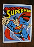 Superman Retro Panels Tin Sign , 13x16