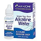 ALKAZONE Make Your Own Alkaline Water | 1 Pack Make 20 Gallon of Alkaline Water | Alkaline Booster Drop | Single Pack 1.25 oz |