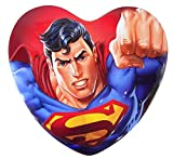 DC Comics Superman Valentine's Day Heart Tin with Chocolate Hearts, 3.38 oz