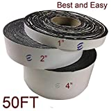 EWT Asphalt Tarmac Parking lot Joint and Crack Sealer Repair Filler Tape 1' ~ 4' Wide & 50 FT Long (1 inch)