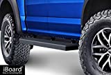 APS iBoard Running Boards 5' Matte Black Custom Fit 2015-2019 Ford F150 SuperCrew Cab Pickup 4-Door / 2017-2019 Ford F-250/F-350 Super Duty (Nerf Bars | Side Steps | Side Bars)