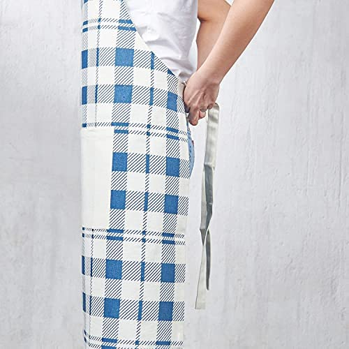 Folkulture Aprons for Women for Pockets or Aprons for Men, Chef Apron with an Adjustable Neck Strap, 100% Cotton