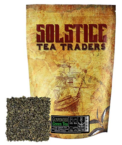 Pinhead Rolled Gunpowder Green Tea One Pound, Pinhead Rolled Loose Leaf Gunpowder Green Tea, One Pound