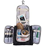 Travel Toiletry Hanging Bag - Store Cosmetic Makeup for Women, or Shaving Kit for Men, This Large Travel Essential Organizer Is Great for Personal Items, Shampoo, Shaving Accessories & Body Wash