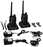 BaoFeng UV-5RA Two-Way Radio, Dual Band UHF/VHF Ham 136-174/400-520MHz Transceiver - 2 Pack