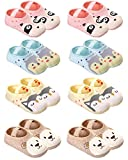 QandSweat Baby Toddler Non-skid Socks Little Girls Cute Cartoon Floor Socks 8-Pairs 8-36M (Cartoon 8 Pairs)