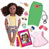 Our Generation 18 Poseable Doll DEDRA with Boogie Board and Accessories