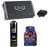 Boss AR3000D 3000W MONO D Car Amplifier + Remote + 3.0 Farad Capacitor + Amp Kit