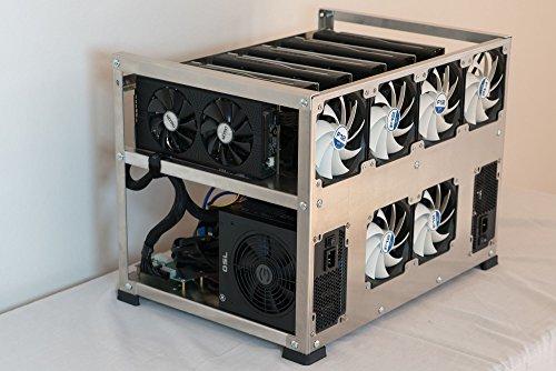 6 GPU, Zcash (ZEC), Ethereum aluminum open air mining case, Crypto Monster rig