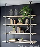 Product review for Industrial Retro Wall Mount Iron Pipe Shelf Hung Bracket Diy Storage Shelving Bookshelf (2 pcs)