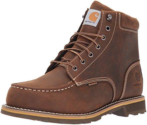"Carhartt Men's 6"" Lug Bottom Moc Soft Toe CMW6197 Industrial Boot, Dark Bison Oil Tanned, 10 M US"