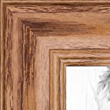 "ArtToFrames 16x20 Inch Brown Picture Frame, This 1.25"" Custom Wood Poster Frame is Honey Stain on Solid Red Oak, for Your Art or Photos, WOM0066-59504-YHNY-16x20"