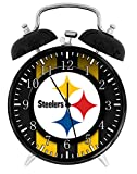 Steelers Twin Bells Alarm Desk Clock 4' Home Office Decor F31 Nice for Gifts