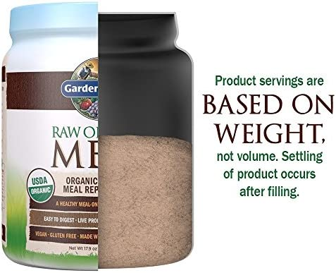 Garden of Life Raw Organic Meal Replacement Powder - Chocolate, 14 Servings, 20g Plant Based Protein Powder, Superfoods, Greens Vitamins Minerals Probiotics Enzymes, All-in-One Meal Replacement Shake 5