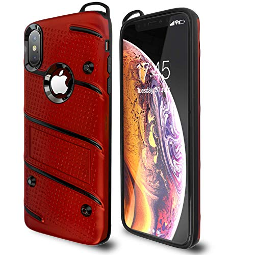 Otipacase iPhone X Case | iPhone Xs Case | Military Grade 15ft. Drop Tested Protective Case with Kickstand,Shockproof,Dual Layer Heavy Duty, Compatible with Apple iPhone X | iPhone Xs - Red
