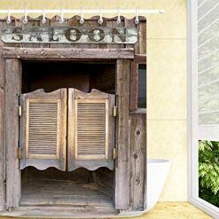 Cowboy Saloon Shower Curtain