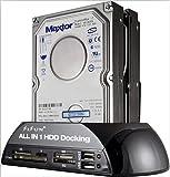 SISUN  2.5'/3.5' IDE SATA HDD Docking Station +Card Reader Hub (Black)
