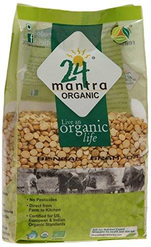 Organic Chana Dal Split - Split Bengal Lentils - Split Bengal Gram - ★ USDA Certified Organic - ★ European Union Certified Organic - ★ Pesticides Free - ★ Adulteration Free - ★ Sodium Free - 2 Pounds - 24 Mantra Organic