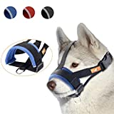 wintchuk Soft Dog Muzzle for Small, Medium and Large Dogs,Anti Biting, Chewing,Adjustable Neck and Head Strap,Breathable(S,Blue)
