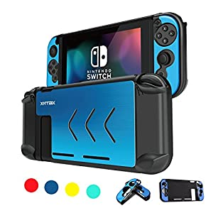 Nintendo Switch Case - Anti-scratch Dustproof Shockproof Protective Case Cover Shells For Nintendo Switch Console And Joy-Con Controller NS (Blue)