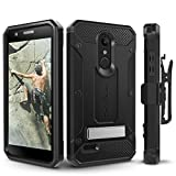 LG K30 / LG Premier Pro/LG Harmony 2 Case, Evocel Heavy Duty Protection with Glass Screen Protector, Rugged Holster, and Kickstand, Explorer Series Pro - Black