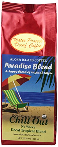 Aloha Island Coffee Company Chill Out, No Worry Decaf, Organic Coffee, 8-Ounce Bags (Pack of 2)