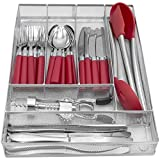 Sorbus Flatware Drawer Organizer, Cutlery Drawer Trays for Silverware, Serving Utensils, Multi-Purpose Storage for Kitchen, Office, Crafts, Bathroom Supplies, 6 Sections, Steel Mesh (Silver)